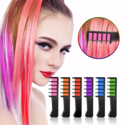 Fashion Sexy 8 Colors Ameauty Temporary Hair Chalk Cosplay DIY Non-Toxic Washable Hair Color Comb for Party Makeup