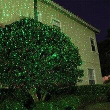 En plein air mobile rouge et vert plein ciel étoile noël Laser projecteur lampe lumières en plein air paysage pelouse jardin scène laser lumière