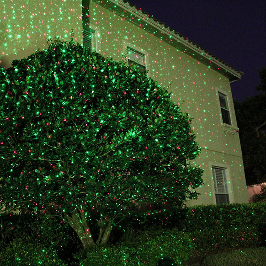 Outdoor Moving Red&Green Full Sky Star Christmas Laser Projector Lamp Lights Outdoor Landscape Lawn Garden Stage Laser Light