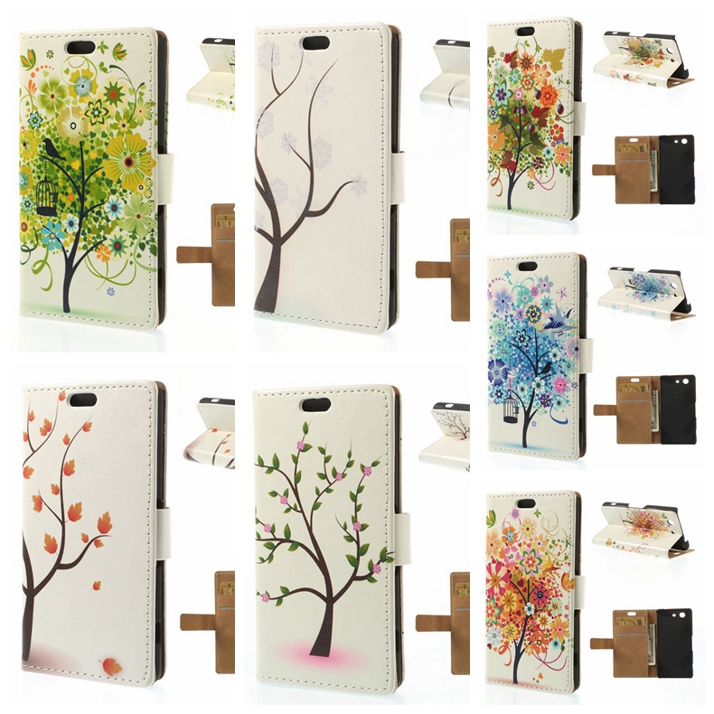 sony z3 compact cover Illustration Style Wallet Leather Case Sony Xperia Z3 Compact D5803 M55w - Iacebox Co.,Ltd (HK store)