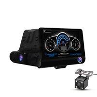 Dual Lens Car DVR Radar detector GPS 3 in 1 Full HD 1080P 170 Degree Rearview Car Dash Camera video recorder G sensor DY311
