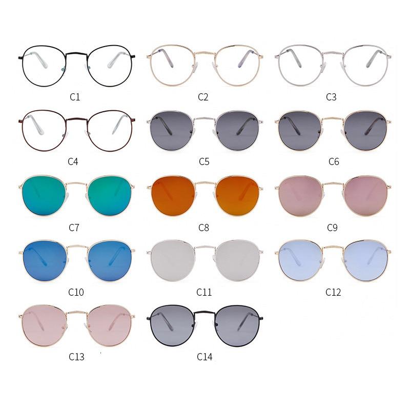 LeonLion 2019 Classic Small Frame Round Sunglasses Women/Men Brand Designer Alloy Mirror Sun Glasses Vintage Modis Oculos 5