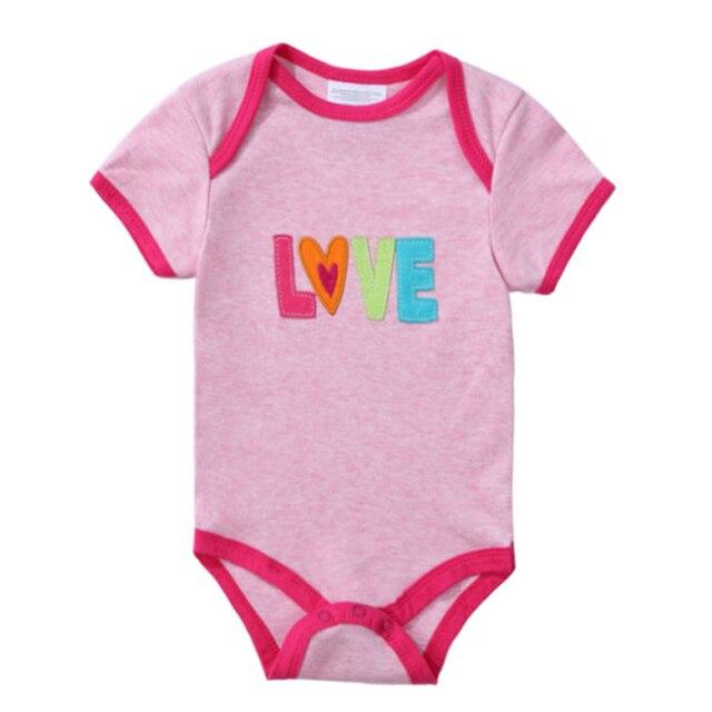 2018 neu 100% Baumwolle Baby Body Newborn Print Body Suit Mode Sommer Kinder Mädchen Jungen Kurzarm Baby Kleinkind Overall