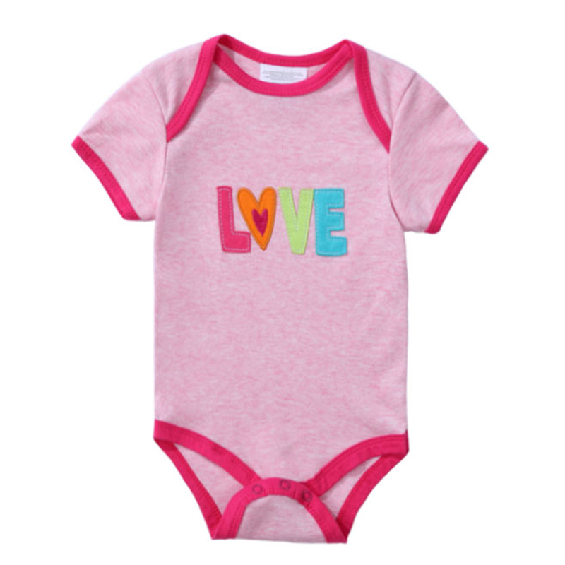 2020 Newly 100% Cotton Baby Bodysuit Newborn Print Body Suit Fashion Summer Children Girl Boy Short Sleeve Baby Toddler Jumpsuit