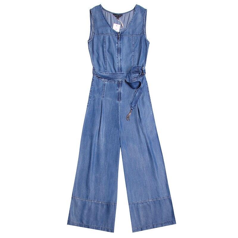 Et Salopette Nw17b1034 New Automne Large Culottes longueur Cheville 1 Fashioned Femmes Les Pour 2018 Printemps Pantalon Denim Blue Jambe 5q7xanf