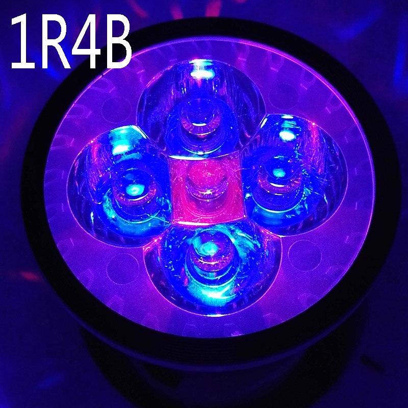 Full Spectrum 10W LED Grow Light , AC85-265V E27 1 Red & 4 Blue For Seedlings Plants Growth Flowering In Grow Tent