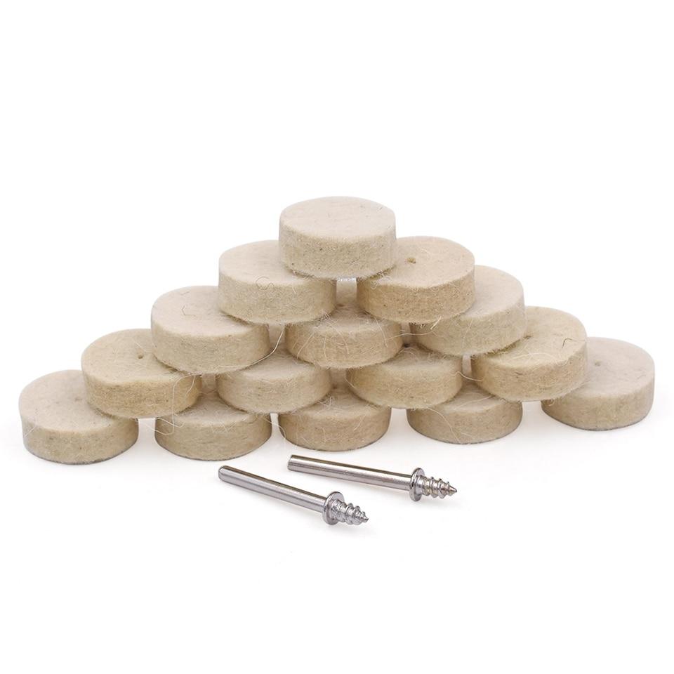 50 Stücke Wolle Filz Polieren Polieren Rad Schleifen Polieren Pad Handwerkzeuge Dateien 4 Stücke Shanks Für Dremel Dreh Werkzeug Dremel