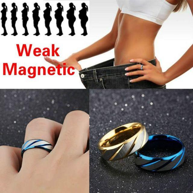 Médica magnético Magnético Anel Ferramentas Emagrecimento Aptidão da Perda de Peso Reduzir O Peso da Corda Anel Estimular Pontos De Acupuntura Anel Gallstone