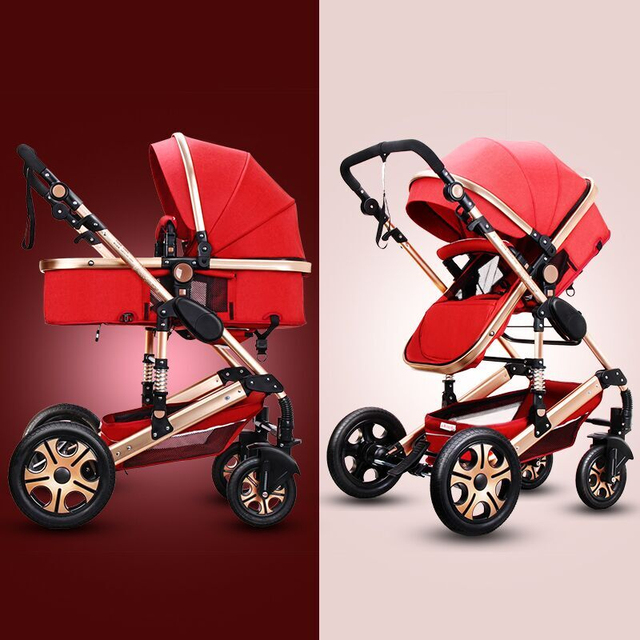 Baby Stroller 3 in 1 With Car Seat High Landscope Folding Baby Carriage For Child From 0-3 Years Prams For Newborns  3