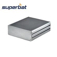 Superbat Tùy Biến Chia Cơ Thể Hộp Nhôm PCB Kèm Ốp Lưng Dự Án Điện Tử DIY  140*122*45Mm (L * W * H)