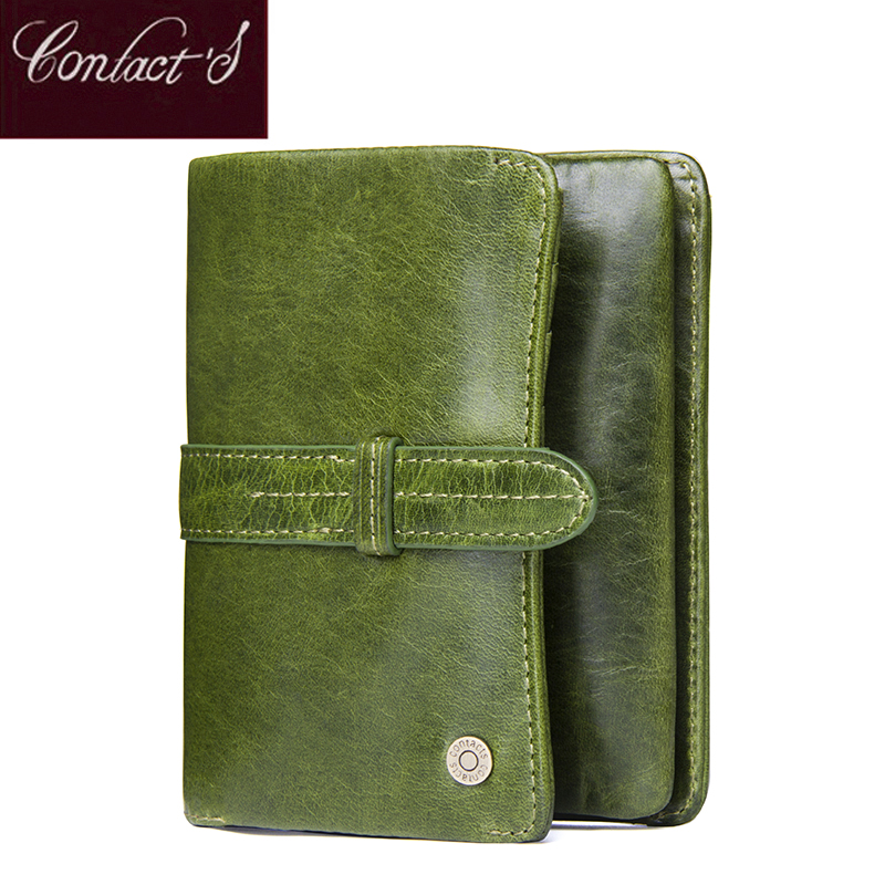 Contact's New Fashion Short Women Wallets Genuine Leather Women's Wallet Hasp Design With Zipper Coin Pocket Purse Card Holder new anime style spiderman men wallet pu leather card holder purse dollar price boys girls short wallets with zipper coin pocket