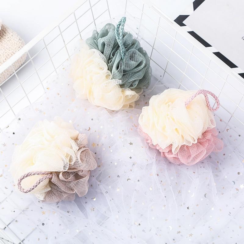 Bath Flower Mesh Bath Washing body wisp Tool Accessory Candy Color Body Wash Bath Ball Large Bath Sponge body brush wash sponge