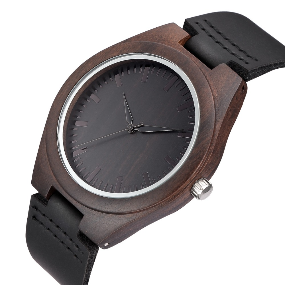 WEISIKAI Fashion Wooden Design Mens Womens Watches Casual Simple Leather Quartz Watch Scale Black Dial Wood Luxury Wristwatches (7)