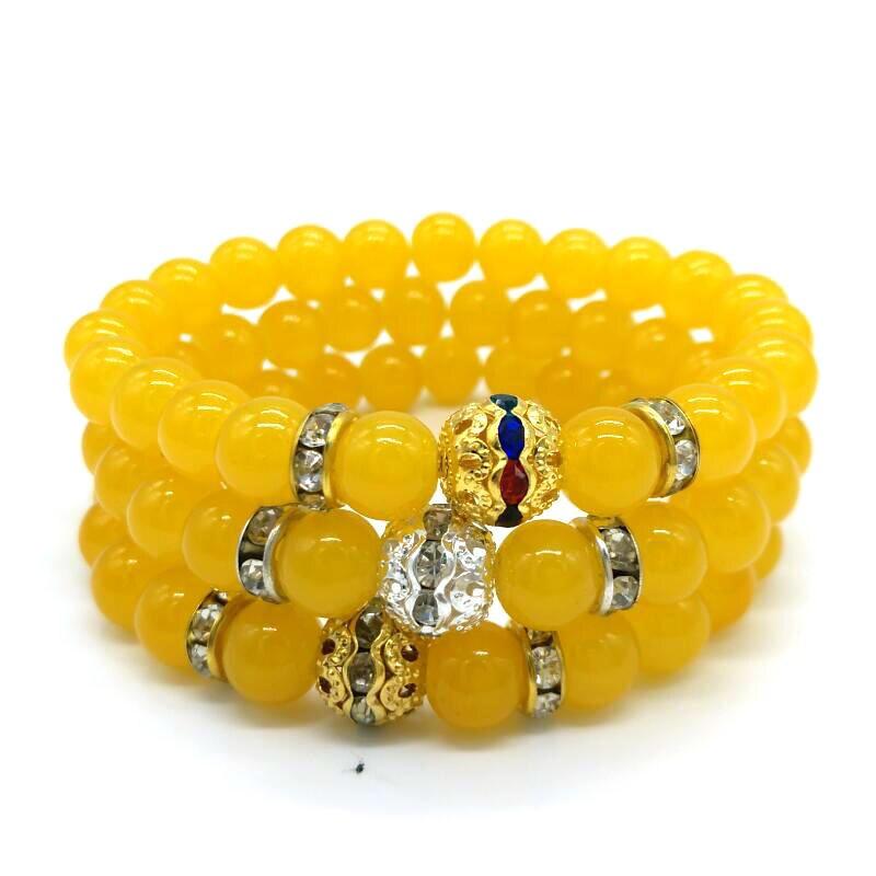 Most Popular Gifts For Women 2016 Part - 50: 2016 Most Popular Wax Yellow Glass Bead Bracelet Men Jewelry Fashion  Bracelet For Women Lovers Gift