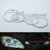 Ultra bright SMD white LED angel eyes halo ring kit daytime running light DRL For Ford Focus II Mk2 2004 2008 Car Styling