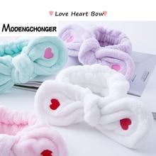 цены на Cute Big Rabbit Ear Headbands Soft Elastic Hair Band Embroidered Love Heart For Women Girls Hair Band Fashion Hair Accessories  в интернет-магазинах