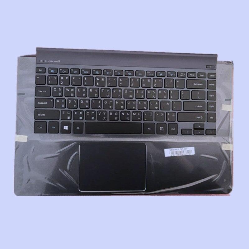 NEW Original Ordinateur Portable Repose-poignets avec RU Clavier pour SAMSUNG NP900X4C NP900X4D 900X4 avec rétro-éclairé lumière avec touchpad