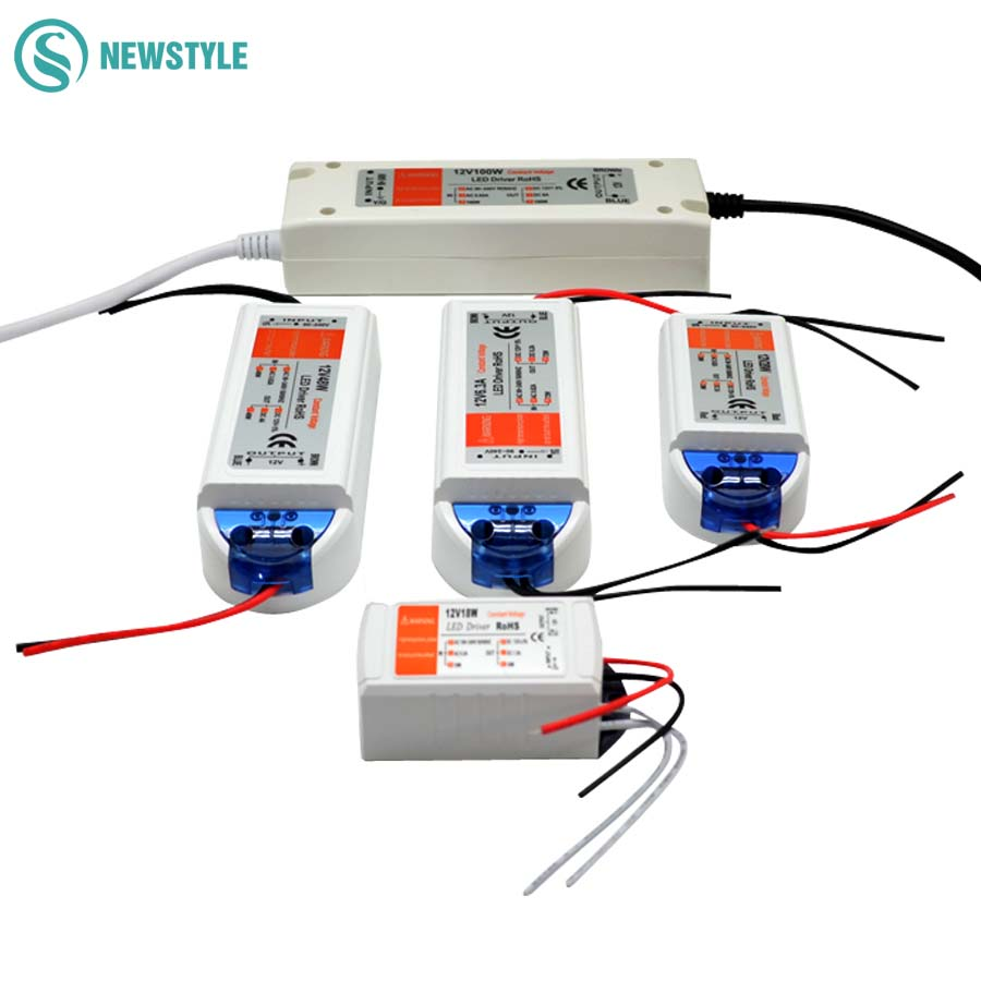 LED Driver AC 110V 220V to DC12V Led Power <font><b>Adapter</b></font> Transformers for LED Strip 18W 28W 48W 72W 100W Power Supply image