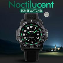 Hombres Reloj de Cuarzo Relojes Hombres Deportes SKMEI Marca Relogio masculino reloj Noctilucentes Auto Fecha Militar Impermeable de los Relojes de pulsera