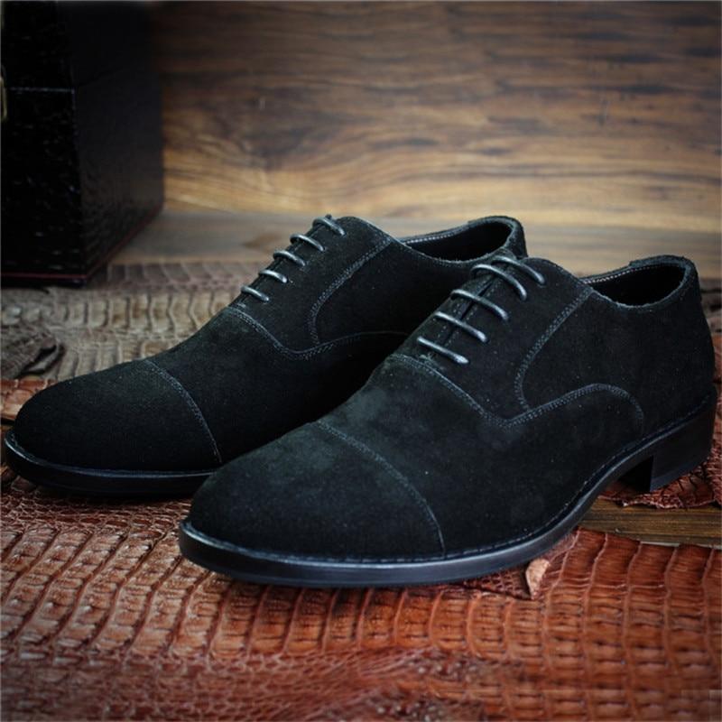 Cuir Cousu Livraison Suédé À Style Gratuite La De Base Lacent Casual Sur Maloneda Hommes Chaussures Avec Mesure Main Noir Goodyear Nouveau En UqzMpSV