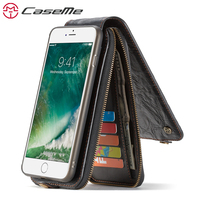 CaseMe Song For Apple IPhone 7 7 Plus Wallet Card Slot Leather Phone Cases Magnetic Cover