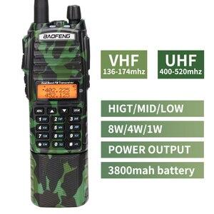 Image 2 - Baofeng UV 82 كامو اسلكية تخاطب 8 واط قوية UHF VHF ثنائي الموجات 3800 mAh 10 كجم طويلة المدى UV 82 للصيد المشي اتجاهين راديو