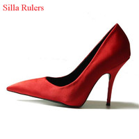 New Sexy Stiletto High Heels Women Pumps Red Purple Women Wedding Shoes Pointed Toe Ladies Shoes Woman Zapatos Mujer Big Size