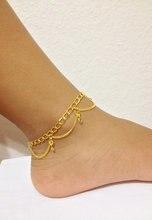 Envío gratuito a nivel mundial, oro tobilleras cadena de la joyería llenada oro tobilleras para el tobillo de bohemia boho de basura, joyería beach
