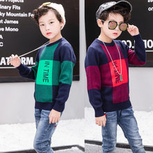 2019 Boys Casual Plaid Sweater High Quality Design Simple Pullover Baby Boy Children Clothes 4-13Y Kids Toddler Tops Sweater striped sweater for boys 2018 brand design fall girl pullover baby boy casual sweater infant knit sweater children clothes