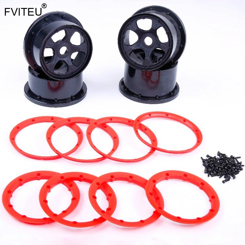Kits de moyeu de roue et de jante en plastique FVITEU pour moteur 1/5 HPI Baja 5B SS Rovan King