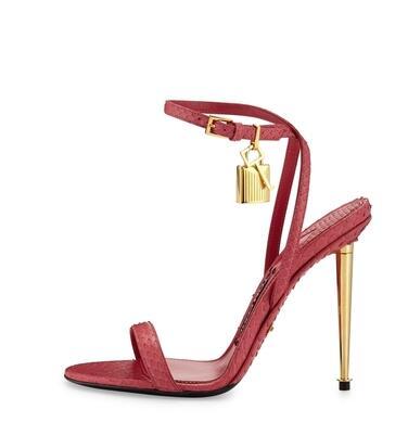 Rousmery 2017 Top Selling Lock Embellished Stiletto High Heels Dress Wedding Shoes Lady Peep Toe Summer Ankle Strap Sandals цена