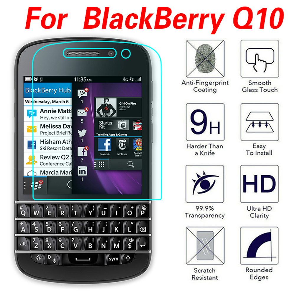 2.5D Tempered Glass Screen Protector Film for BlackBerry Q10 Q20 Z30 Aurora Keyone Screen Protective Glass Film on The Phone(China)