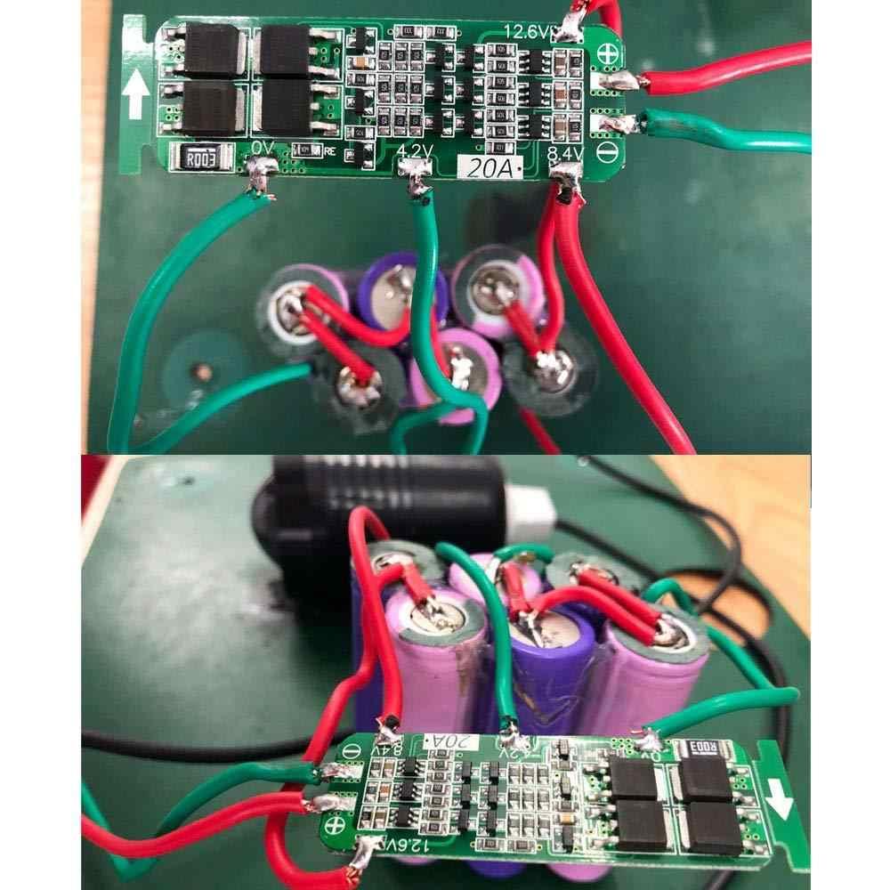 3 S 20A 12,6 V литий-ионная литиевая батарея 18650 плата защиты зарядного устройства BMS модуль защиты зарядки
