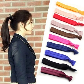 Free shipping Women Girl hair accessoeies Fabric Hair Ties Set of 12 Mix  Colors Knotted Hair Band No Pull Ponytail Holders HJ011 6db028d9c33