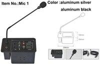 2019 soquete do microfone para o sistema de conferência painel de alumínio prata e cor preta tampa para cima do gás de maneira aberta soquete programação