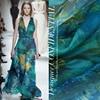 Elegant Silk Chiffon Fabric Summer Perspective Print Silk Fabric For Dress Napkin Scarf Chiffon Fabric Tulle