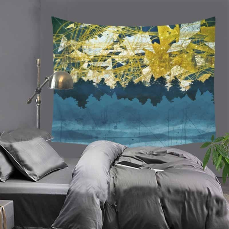 Household Tapestry Art Deco Shapes Retro Abstract Curtain Furnishing Upholstery Fabric Beautifying and Decorating LZC25
