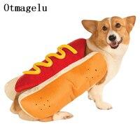 Забавный для домашнего котика собака колбасные Костюмы Одежда для маленьких собачек одежда на Хэллоуин вечерние костюмы гамбургера костюм...
