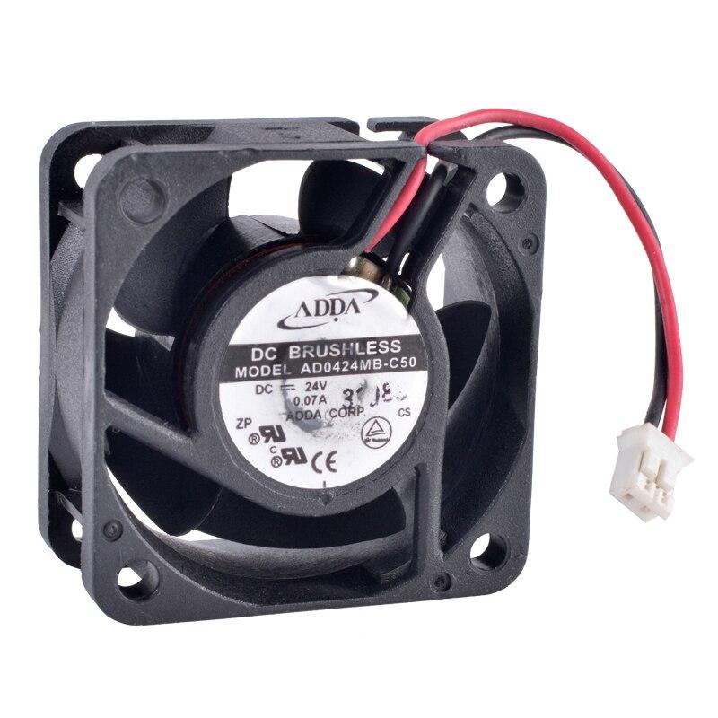 COOLING REVOLUTION AD0424MB-C50 4cm 4020 40mm fan 24V 0.07A Double ball bearing inverter cooling fan original 12cm 24v 2 40a pfb1224uhe three line violent inverter cooling fan