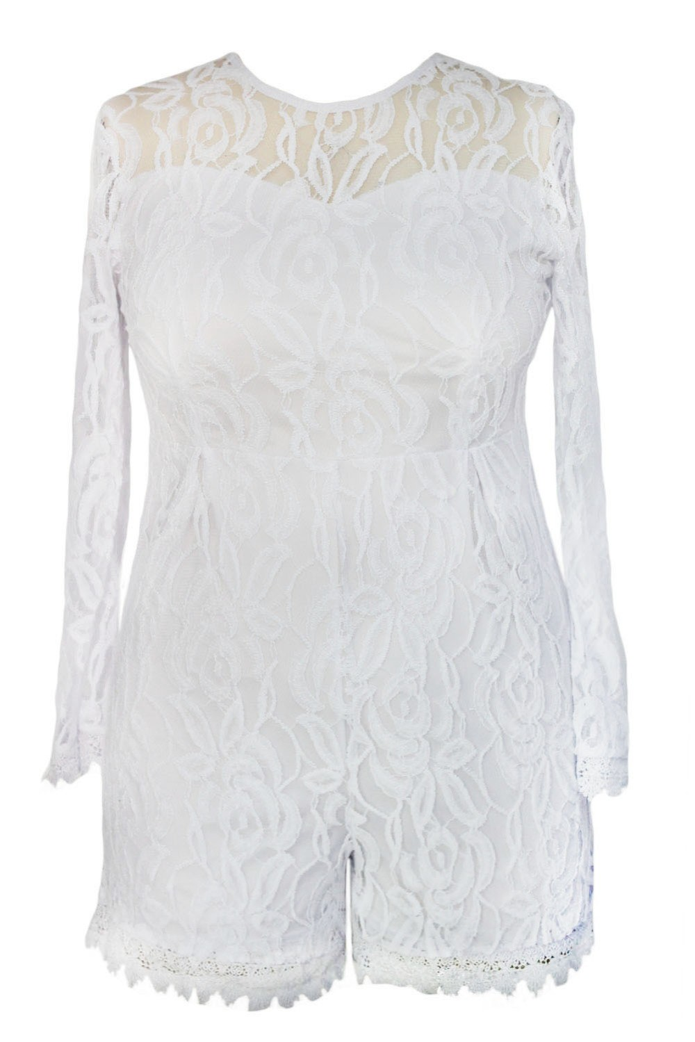 White-Plus-Size-Long-Sleeve-Lace-Romper-LC60599-1-3