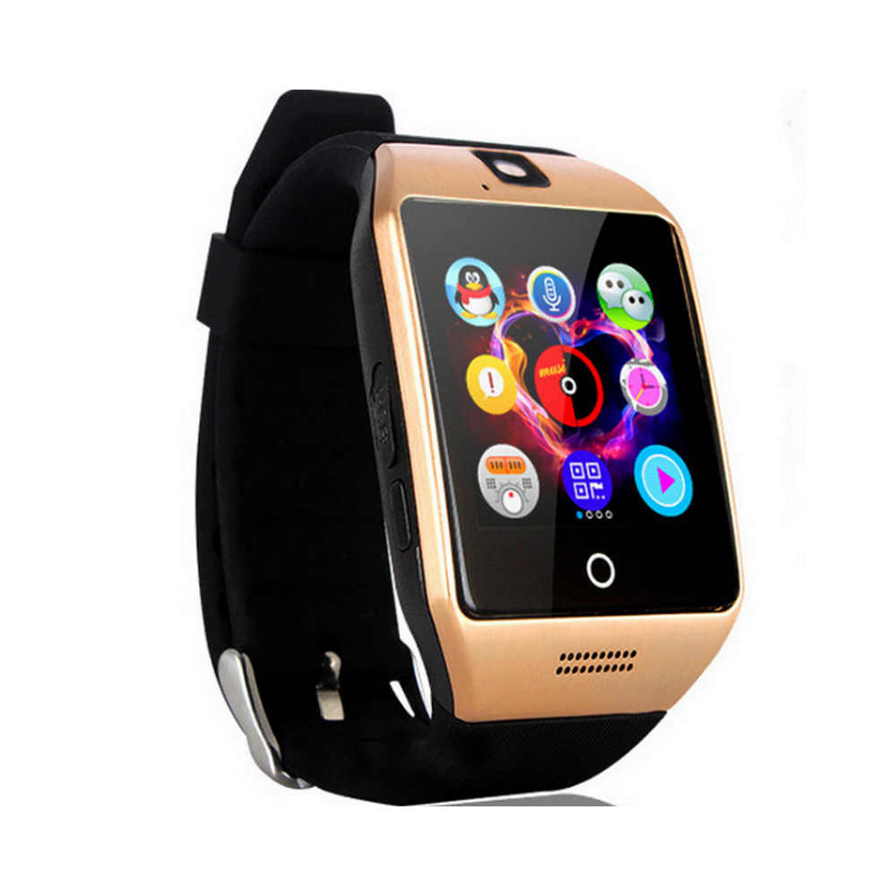 Q18 Smart Watch APP Download Sim TF SD Card Phone Call Push Message Camera  Bluetooth Dial /Call For IOS Android Phone VS DZ109