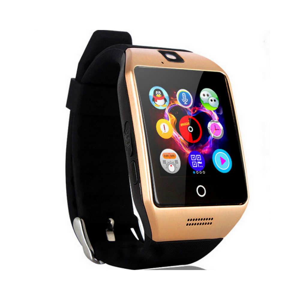 Q18 Smart Watch APP Download Sim TF SD Card Phone Call Push Message Camera Bluetooth Dial /Call For IOS Android Phone VS DZ109 image