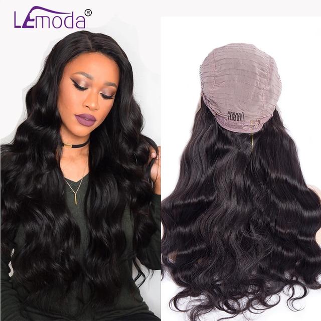 LeModa 13 4 Lace Front Human Hair Wigs For Black Women Brazilian Body Wave  Wig 29a72ad15