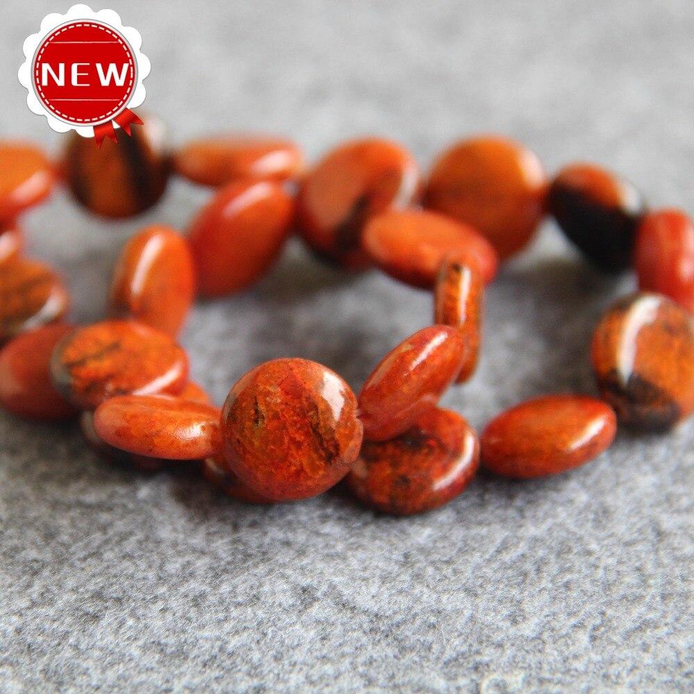 328bdc0c7c1a 2017 para el collar y la pulsera naranja natural piedra Cuentas DIY Cuentas  piedra accesorios 15 pulgadas de joyería de moda fabricación