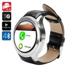 K9สมาร์ทนาฬิกาโทรศัพท์Android 4.4 MTK6572 Dual core AppStoreหัวใจอัตราPedometerติดตามสุขภาพ3กรัมWCDMAซิมการ์ดBT GPS WIFI