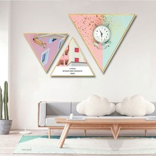 Creative Nordic INS style Shaped decorative painting mural living room restaurant Hotel Background wall Hanging