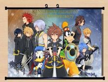 Wall Scroll Kingdom Hearts 10th Anniversary cosplay Home Decor Poster