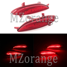 MZORANGE 1 Pair Tail Bumper Reflector Light For Hyundai Elantra 2011 LED DC 12V Red  Brake Fog Lamp Parking Warning Car styling стоимость