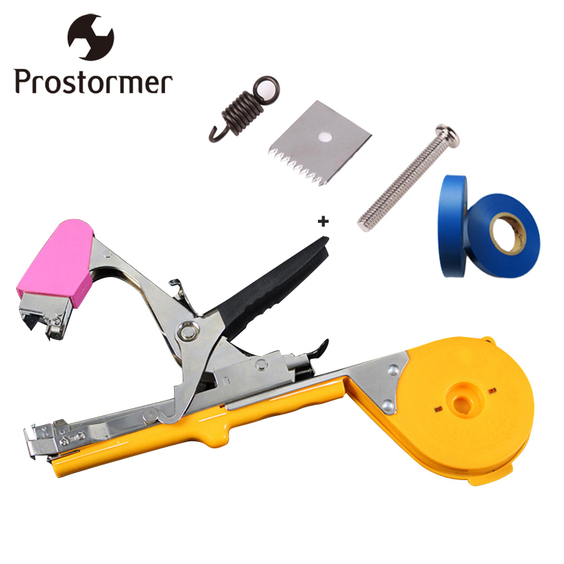 PROTORMER Garden Tapetool Sets Fruit Vegetable Branches Binder Non-waste Taping Machine Garden Tapener Tool Stem Strapping Tying shceppach garden tapetool sets fruit vegetable branches binder non waste taping machine garden tapener tool stem strapping tying