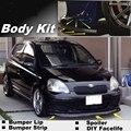 Para TOYOTA Yaris Echo Vitz Platz Bumper Lip/Spoiler Dianteiro para Os Fãs de TopGear para Carro Tuning/Body Kit/Strip saia